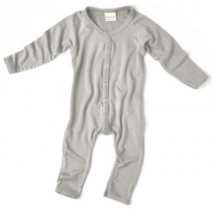 ... estella bamboo long sleeve baby romper - blue / 0 - 3 months - vcxutis