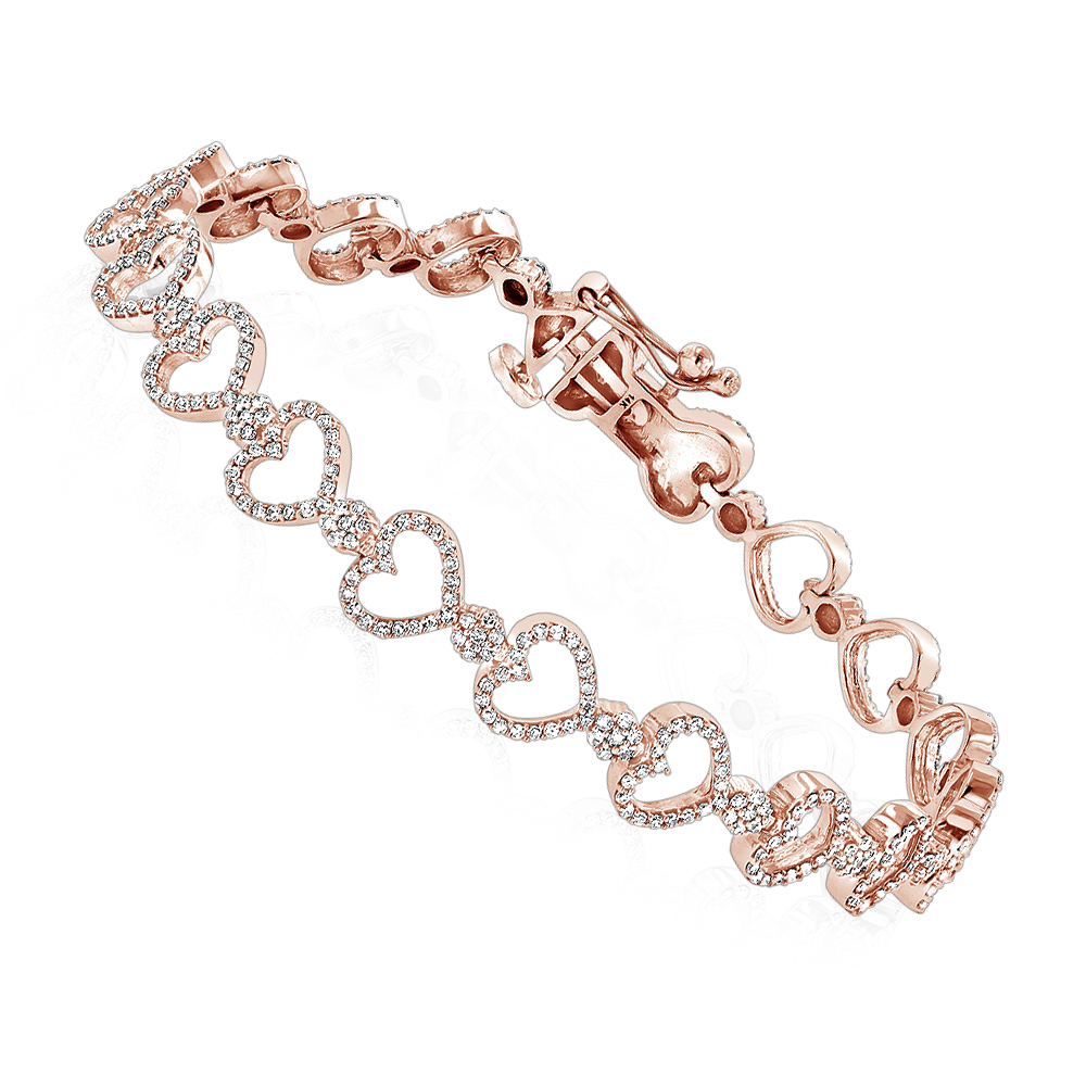 ... heart bracelets 14k gold diamond heart bracelet 1.65ct - ro ... pvczhde