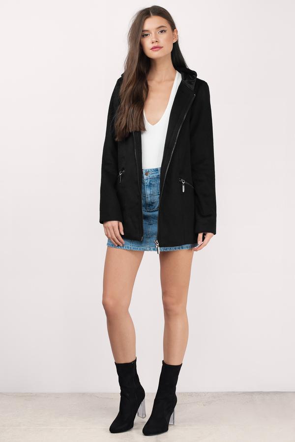 ... hooded up black wool coat fifxabe