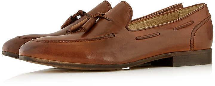 ... hudson shoes hudson tan leather tassel slippers ... wnpofyk