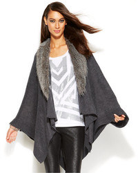 ... inc international concepts faux fur collar poncho sweater ... sucykpa