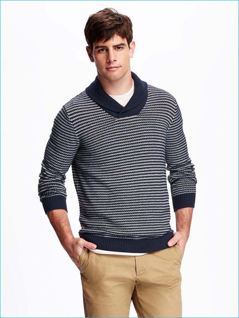 Special features of a collar sweater
