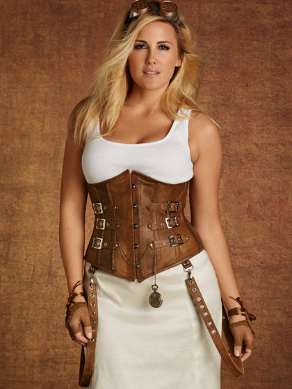 ... plus size tara underbust corset with buckles, tan nbhbdua