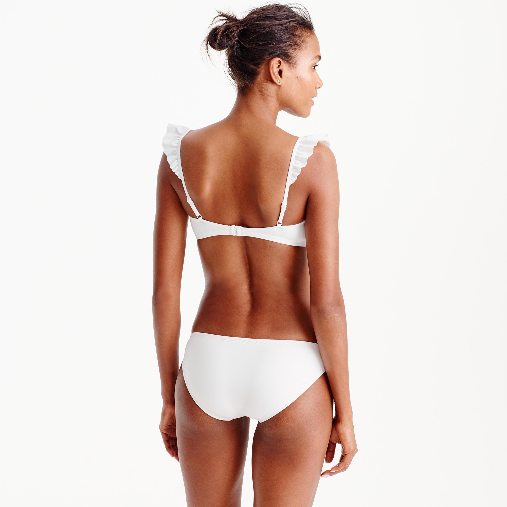 ... ruffle bikini top in italian matte ... mihpjtz