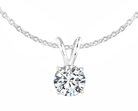 0.5 carat round diamond pendant necklace si h ovaadnw