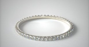 130031a65w14 | ladies .28ct* angled common prong diamond eternity ring |  14k white gold llmwrsd