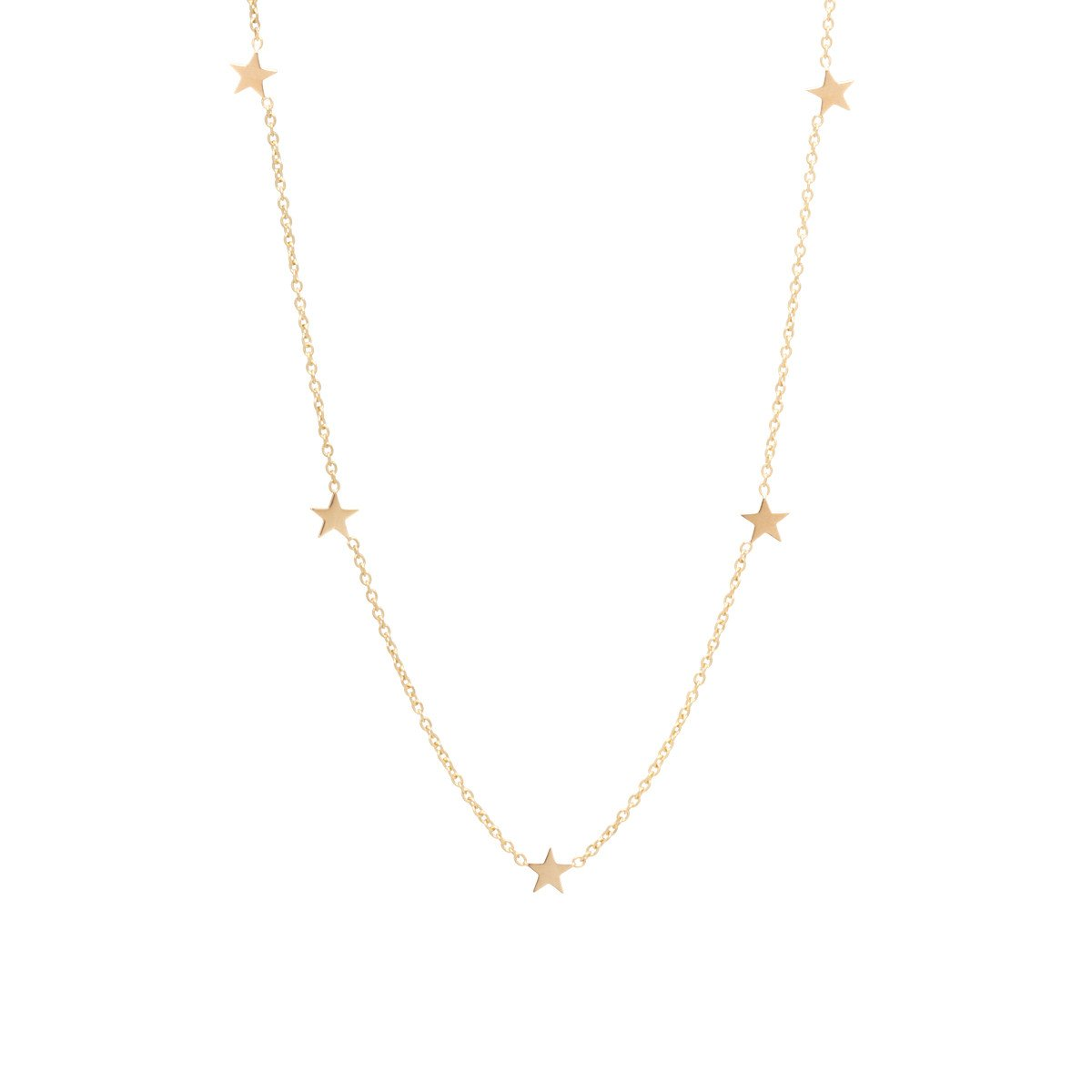 14k itty bitty 5 star necklace ygtaorm