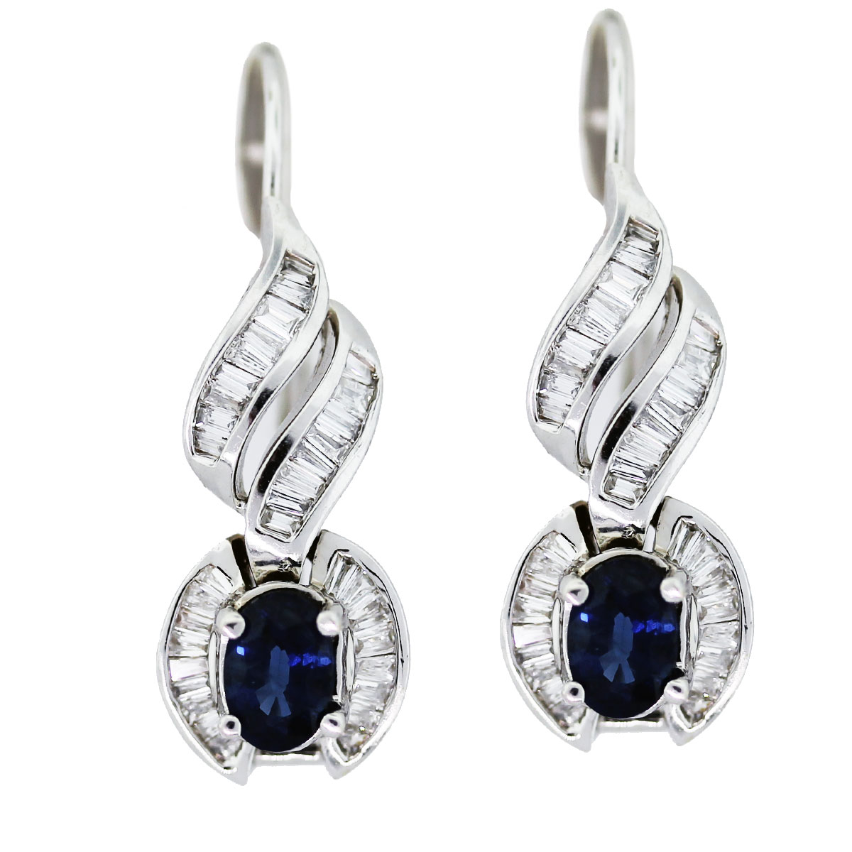 14k white gold diamond earrings cqsuwfj