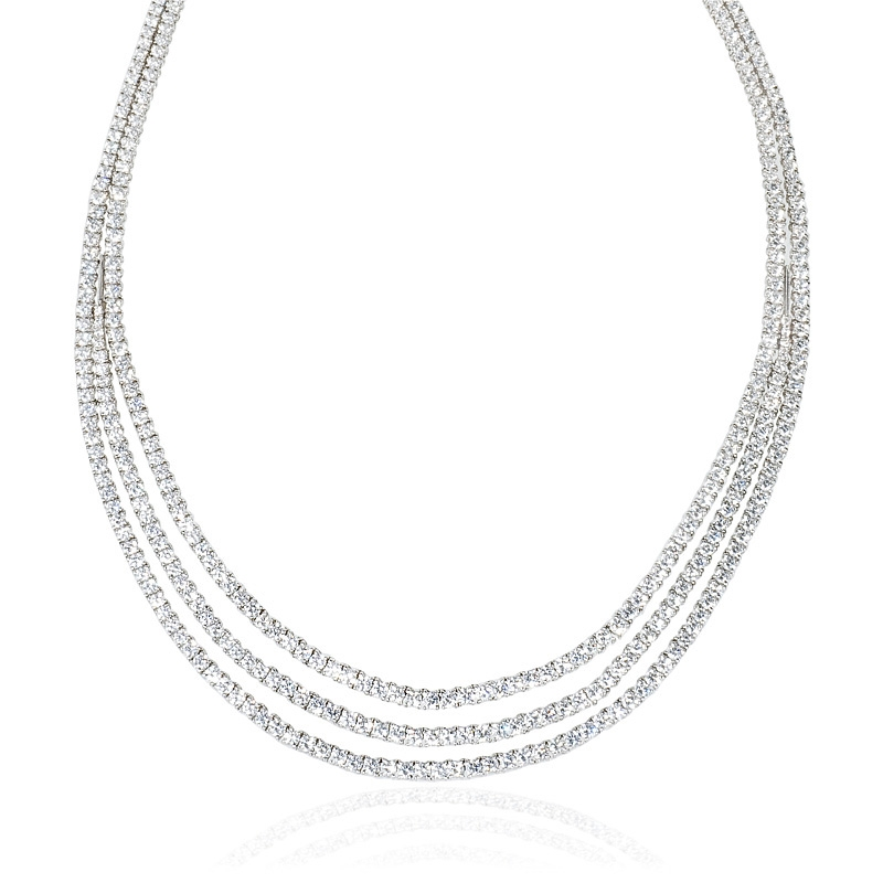 16.35ct leo pizzo diamond 18k white gold necklace nrtpmew