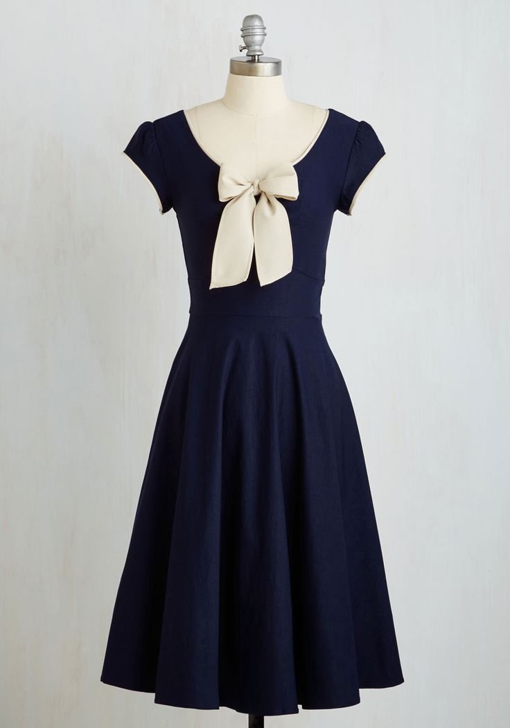 1940s dresses all that and demure dress in navy, #modcloth zfyhman