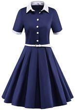 1940s dresses womenu0027s vintage 1940s 50s rockabilly style evening party swing classy tea  dress bfmbhbm