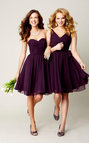 2016 simple purple ruffle chiffon column short bridesmaid dresses uk wpmsybt