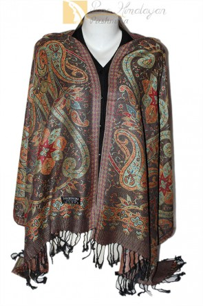 30% silk 70% cashmere pashmina shawl tlktauy