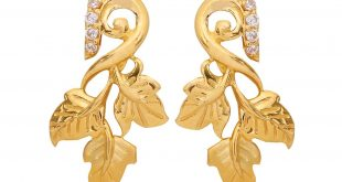 4.34 grams the hawthorn leaf gold earrings zambjls