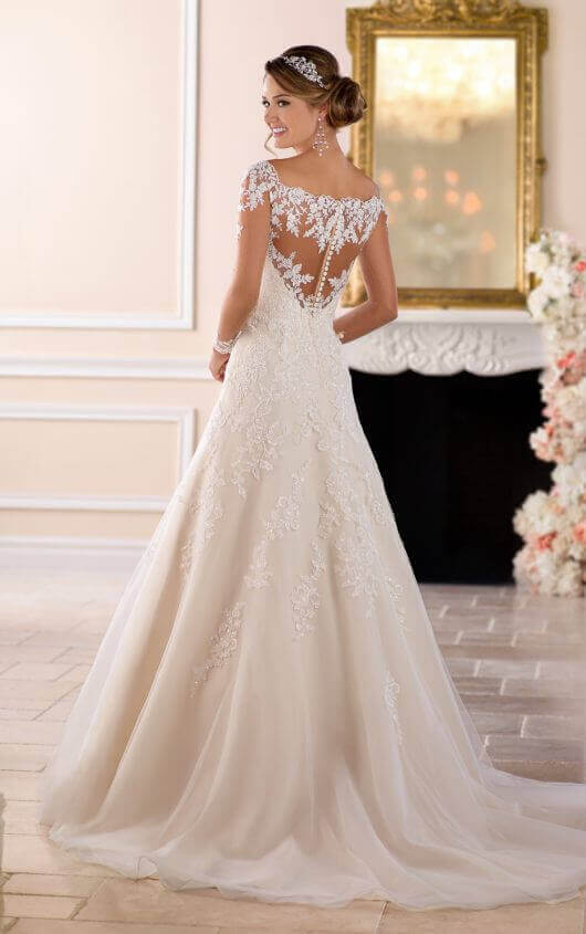 6414 off the shoulder lace wedding dress with sleeves by stella york gqdxgmr