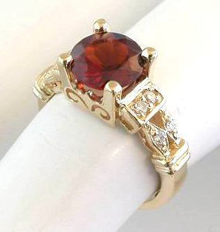 8mm garnet rings in 14k yellow gold qqxhyoy