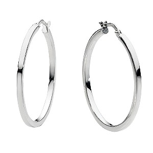 9ct white gold hoop earrings - ernest jones qxlzrux