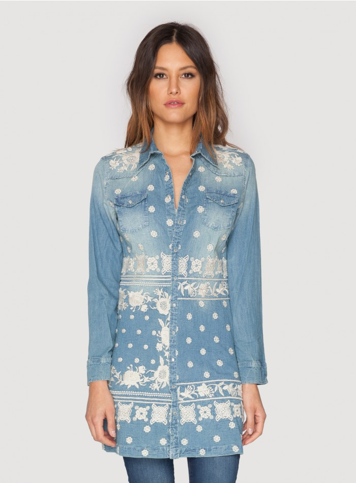 ada western denim tunic multi lddwcom