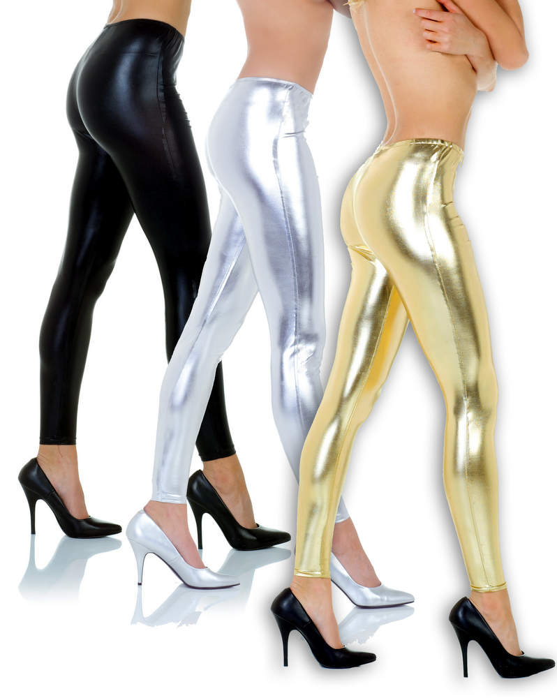 adult solid metallic leggings - more colors iutraly