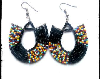 african jewelry maasai earrings, african earrings, kenyan earrings, masai earrings, masai  jewelry, maasai DOWZKTS