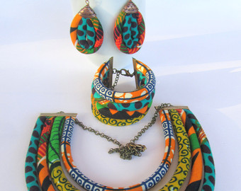african jewelry set / ethnic jewelry set / african wedding jewelry set PANRWVB