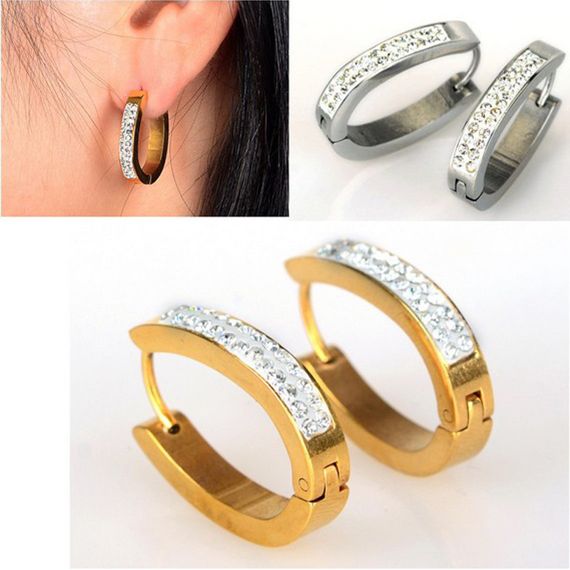 aliexpress.com : buy fashion men lady gothic rock clip ring earrings  stainless steel hoop xgxcxwh