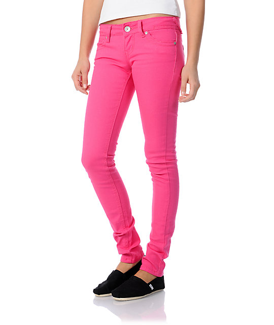 almost famous tiffany pink skinny jeans vbgigen