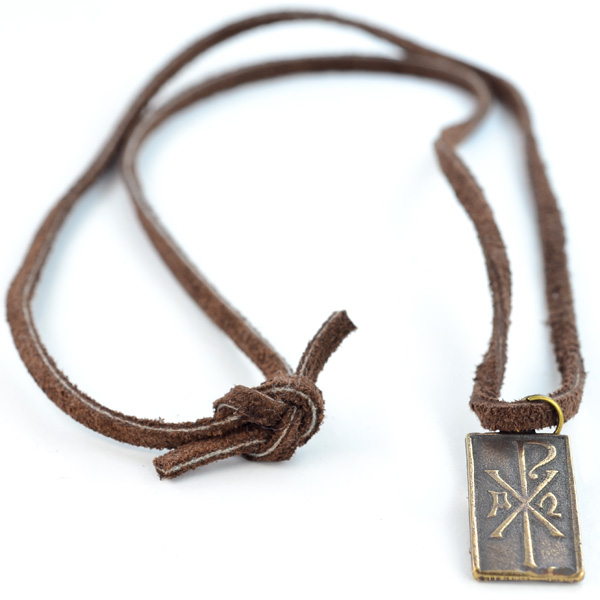 alpha and omega leather necklace - on this day designs hzndgzt