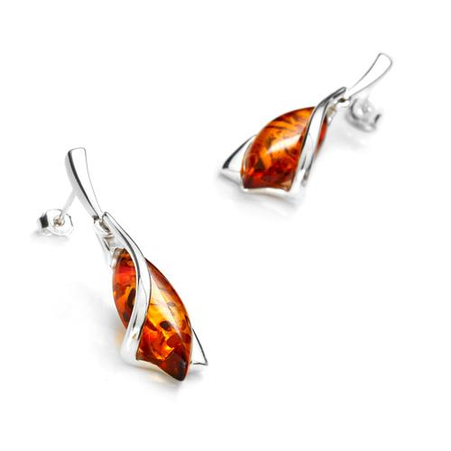 amber earrings cognac amber and sterling silver earrings - catalog page 02 VSXOZND