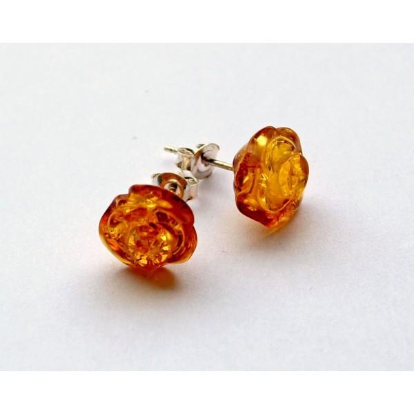 amber earrings ZISESAL