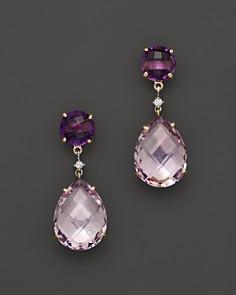 amethyst earrings 14k yellow gold amethyst u0026 rose amethyst drop earrings - 100% exclusive -  bloomingdaleu0027 OLECKEP