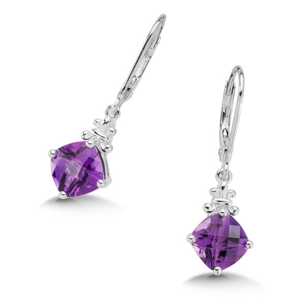 amethyst earrings in sterling silver GDIBTOM