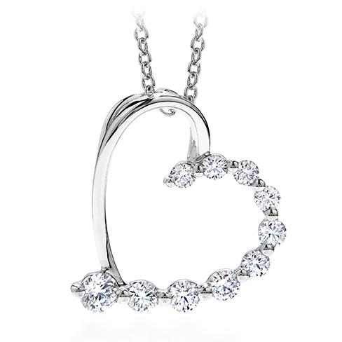 amorous journey heart pendant necklace ivhxkje