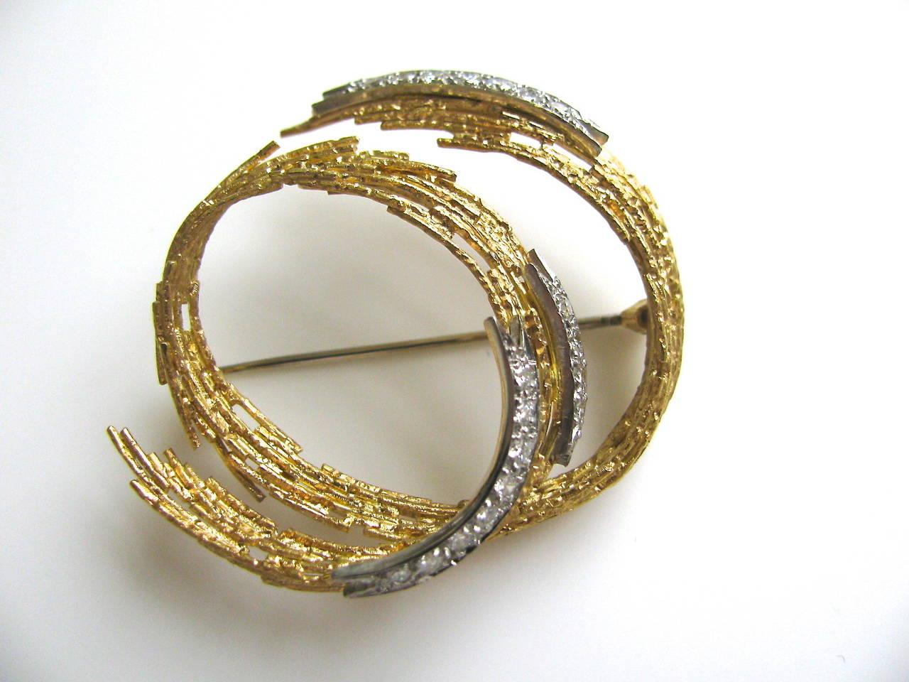 andrew grima diamond gold brooch 1968 2 bxuzwnn