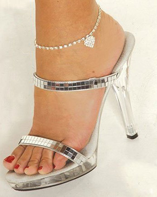 ankle jewelry heart anklet AUWHMBJ
