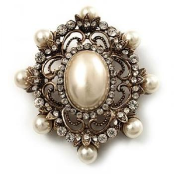 antique brooches antique gold filigree ivory pearl corsage brooch FTXKHLO