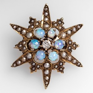antique brooches antique star brooch with diamonds opals and pearls QVFNIDA