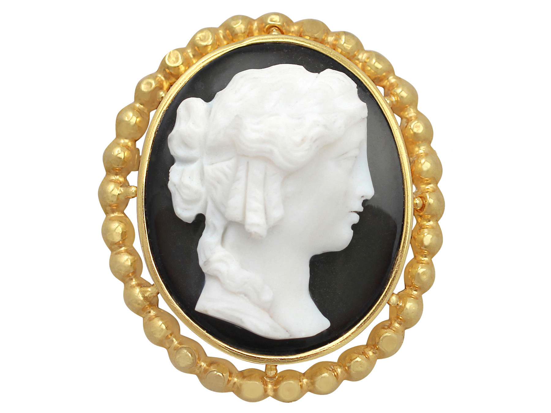 antique french cameo brooch / pendant in 18 ct yellow gold aeojfag