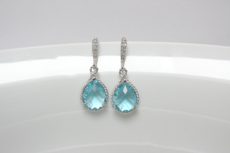 aquamarine earrings 🔎zoom QWEZVEX