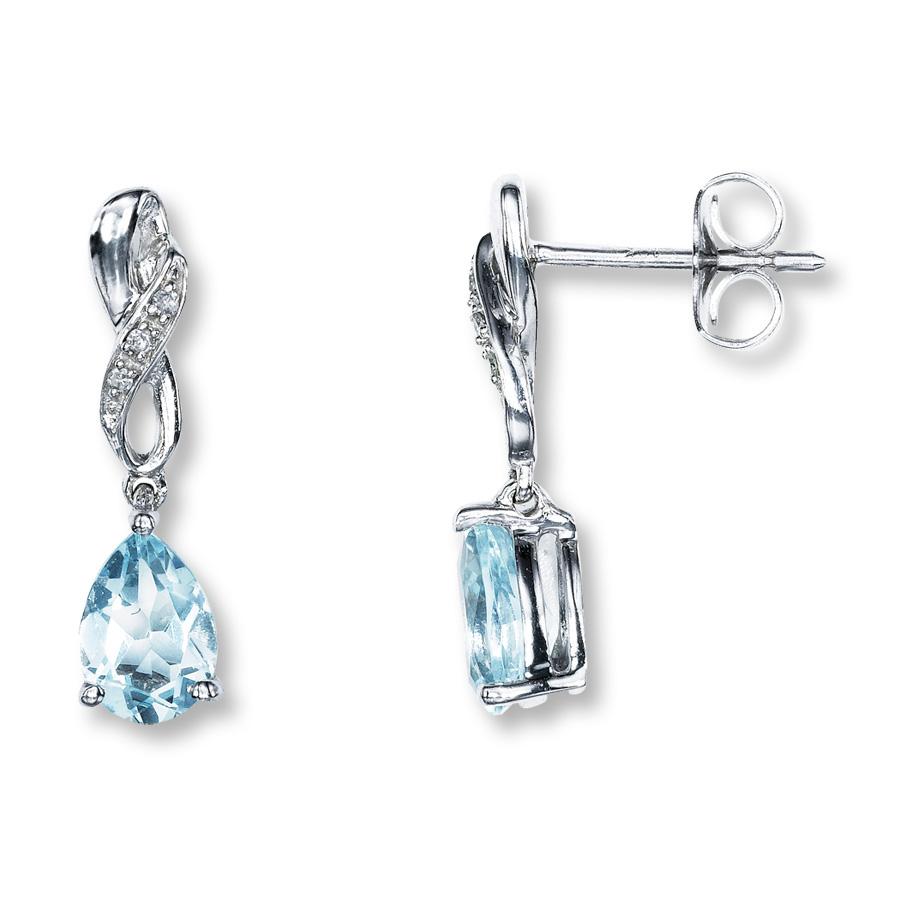 aquamarine earrings hover to zoom NCERMAL