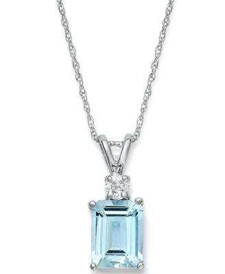 aquamarine necklace 14k white gold necklace, aquamarine (1-5/8 ct. t.w.) WTCMXPD