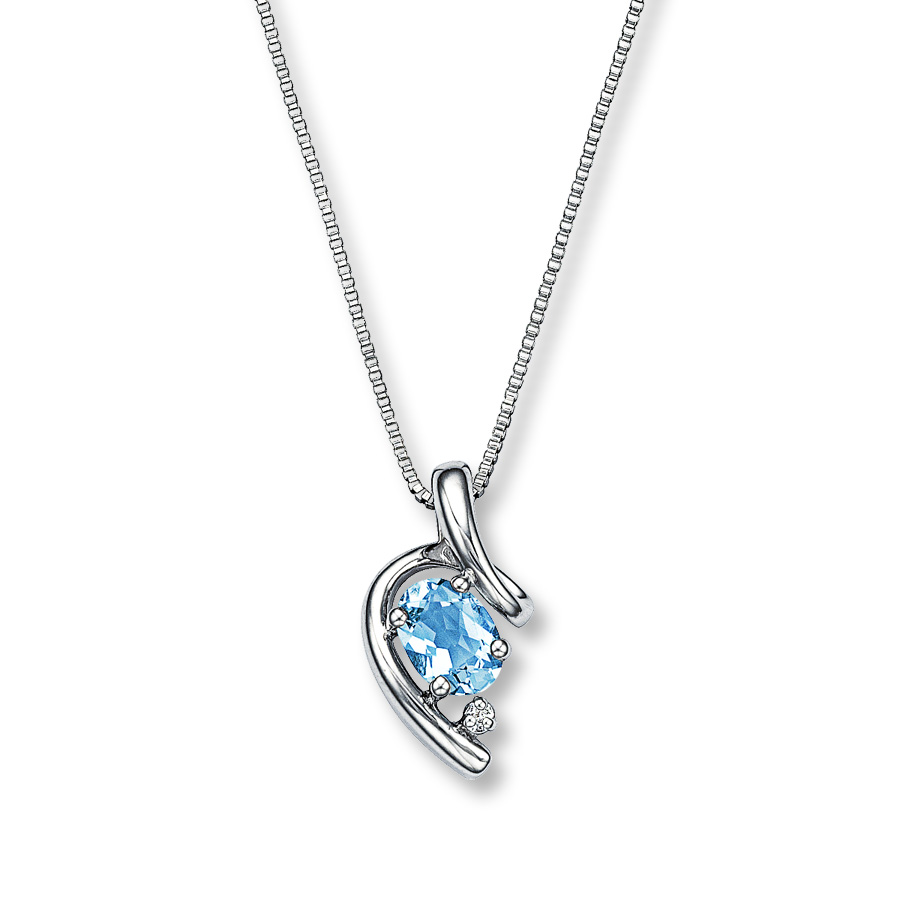 aquamarine necklace hover to zoom AZGNUKC