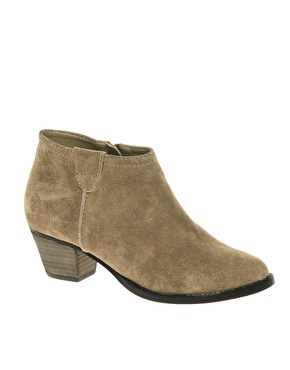 asos | asos august suede ankle boots with mid heel at asos itpipgx