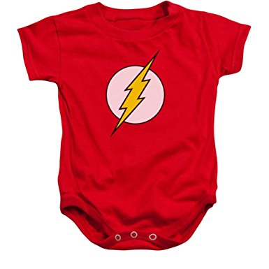 baby romper infant: flash - logo infant onesie size 6 mos knrlygr