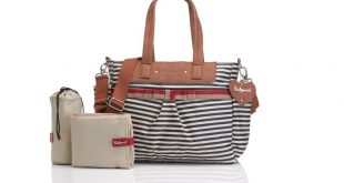 babymel cara stripe nappy bag znwzqij