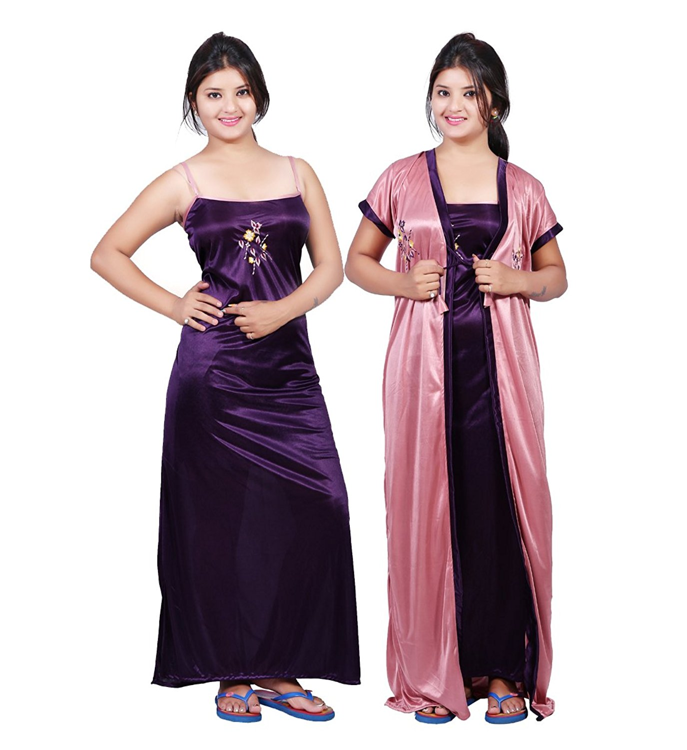 bailey womenu0027s satin night dress (pack of 2): amazon.in: clothing u0026  accessories qkcbxgh