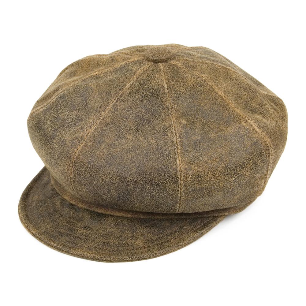 baker boy hat antique leather baker boy cap - brown. loading zoom flkteeh