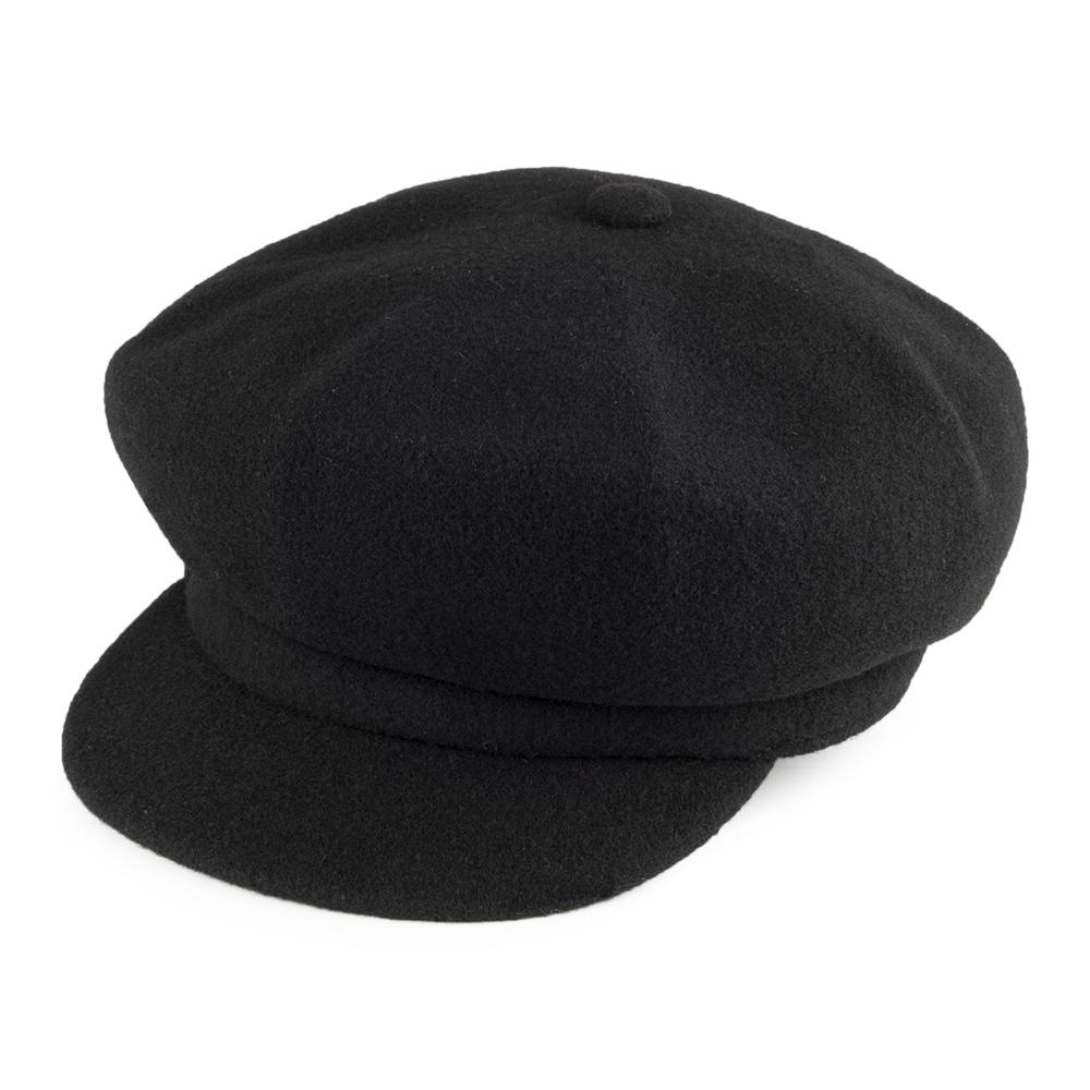 baker boy hat kangol wool spitfire cap - black rqcbglh