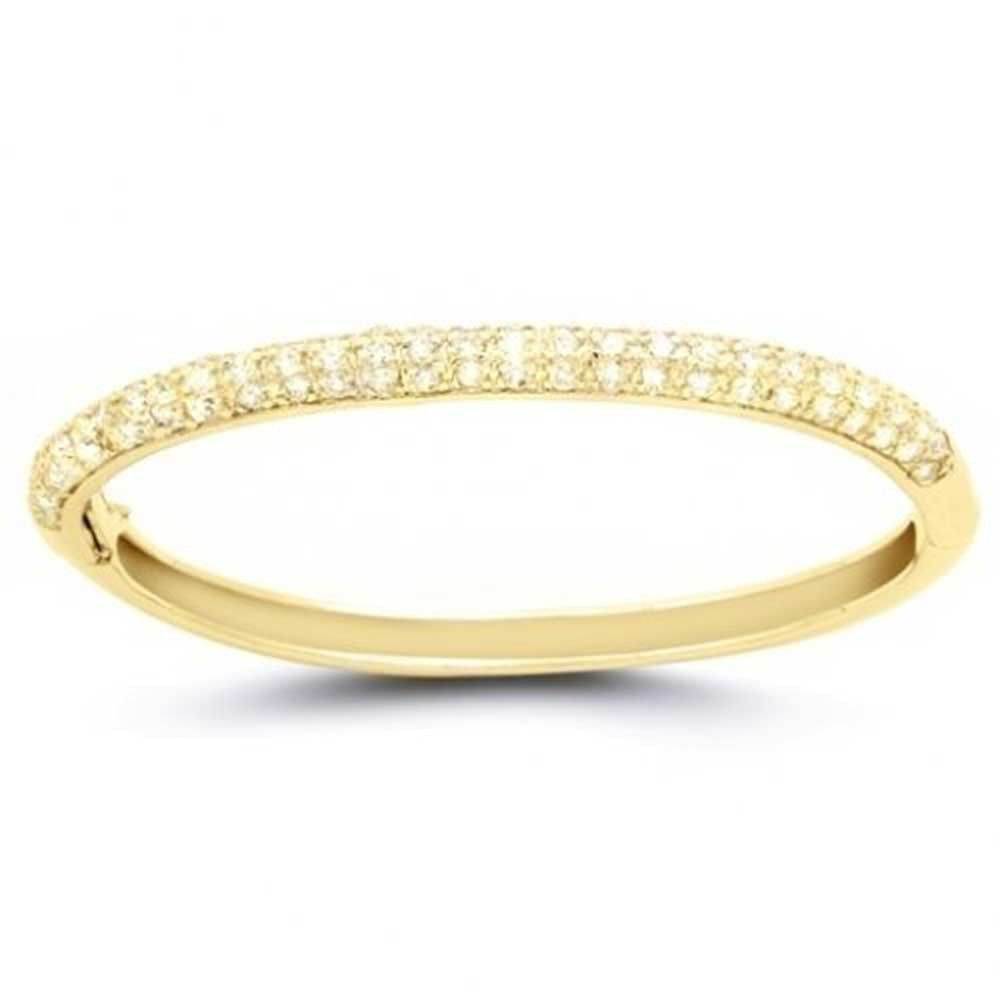 bangle bracelets bling jewelry classic gold plated pave cz bangle bracelet JXMUHWW