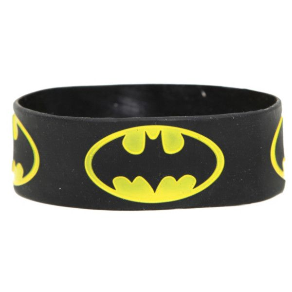 bangle bracelets dc comics batman logo rubber bracelet | hot topic (200 uyu) ❤ liked on JNLBEEA